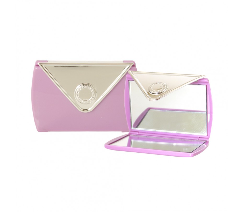 Envelope Shaped Mirror Compact (Purple)