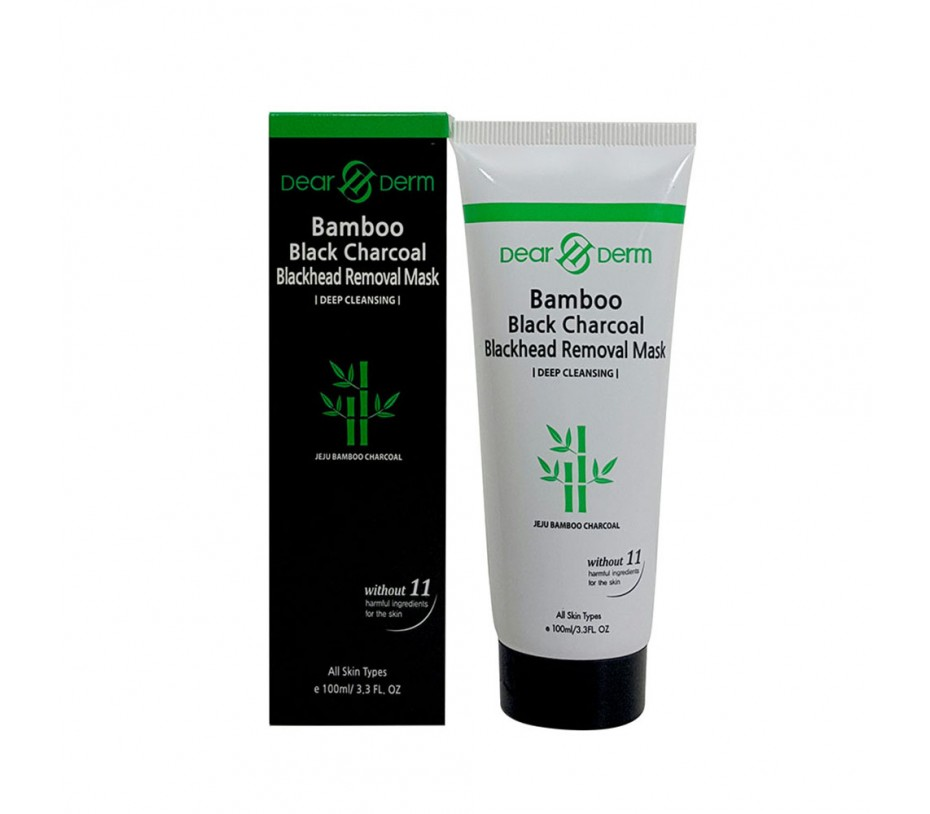 Dearderm Bamboo Black Charcoal Blackhead Removal Mask (Deep Cleansing) 3.3fl.oz/98ml